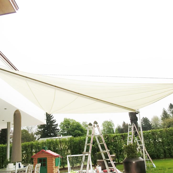 sonnensegel sonnenschutz im garten