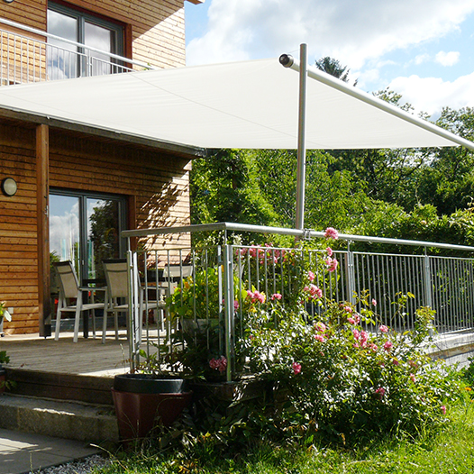 terrassenüberdachung sonnensegel